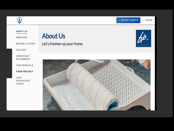 Better painting contractors use PaintScout web proposals