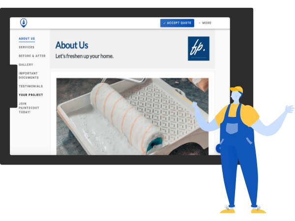 Web proposals for better painting contractors